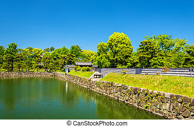 Moat of Nijo Castle in Kyoto