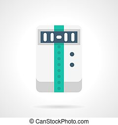 Portable air conditioner flat color vector icon - Climatic...