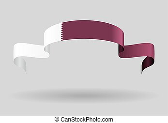 Qatari flag background Vector illustration - Qatari flag...