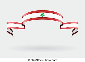 Lebanese flag background. Vector illustration. - Lebanese...