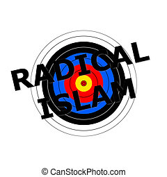 Radical Islam Target - Target background with the writing...