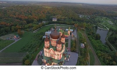 Aerial view of St. Panteleimon's Cathedral in Kiev - Aerial...