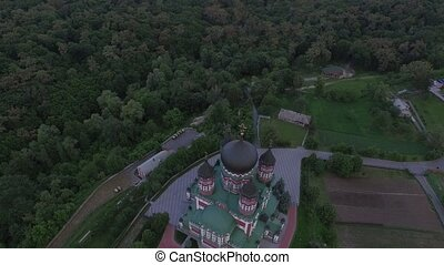 Aerial view of St. Panteleimon's Cathedral in Kiev