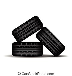 Three Tire tracks in stock - Set of different tire tracks...