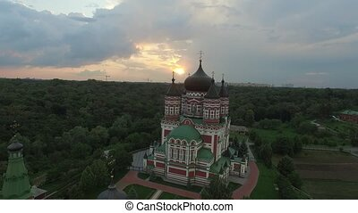 Aerial view of St Panteleimons Cathedral in Kiev - Aerial...
