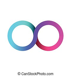 Colorful infinity business logo. Eternity concept. Vector...