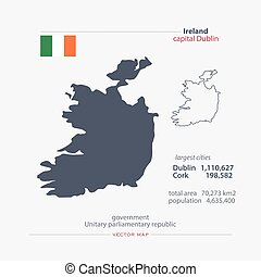 ireland - Republic of Ireland isolated maps and official...