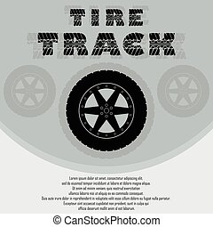 Car tire with wheel background