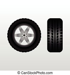 Car tire with wheel