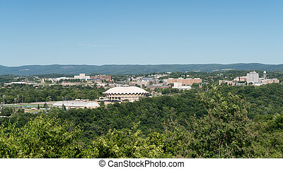 Overview of City of Morgantown WV - WVU Coliseum Arena in...