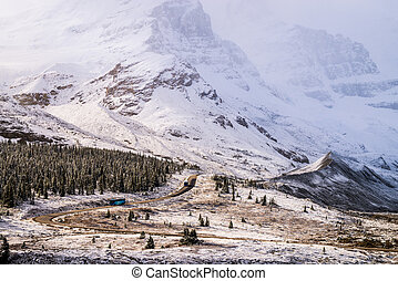 Canadian Athabasca Glacier - Photo of the mountains and...