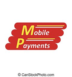 Mobile payments logotype - Mobile payments abstract company...