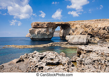 Azure Window on the island Gozo - Azure Window on the...