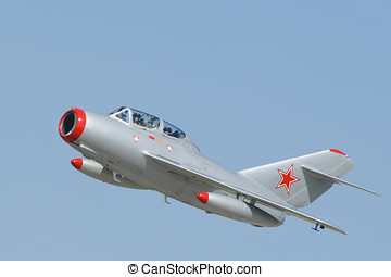 MiG-15 - A Mikoyan-Gurevich MiG-15 two-seater jet fighter...