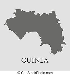 Black Guinea map - vector illustration - Black Guinea map on...