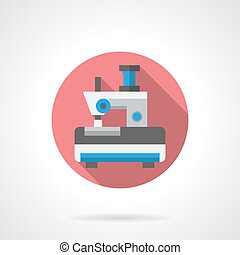 Toy sewing machine round flat vector icon