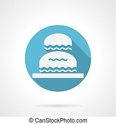 Decorative water flowing blue round vector icon - Decorative...