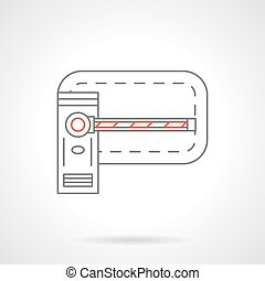 Road barrier flat line vector icon