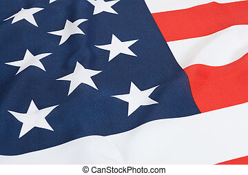 Ruffled national flags - United States - Part of ruffled...