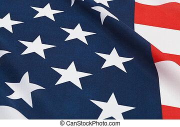 Ruffled national flags - USA - Part of ruffled national...