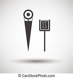 American football sideline markers icon. Vector...