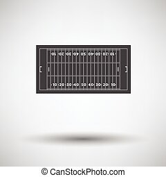 American football field mark icon Vector illustration