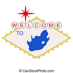 Welcome to South Africa sign