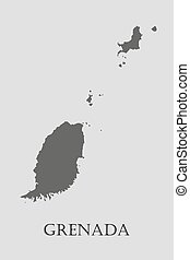 Black Grenada map - vector illustration - Black Grenada map...