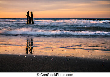 Atlantic Ocean coastline - Early morning on the oceanfront...