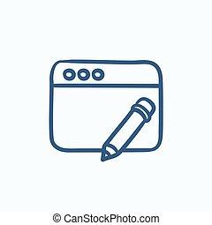 Digital art sketch icon. - Digital art vector sketch icon...
