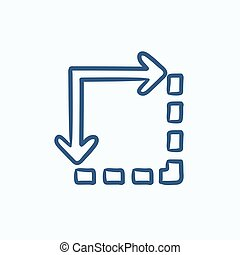 Content extension sketch icon - Content extension vector...
