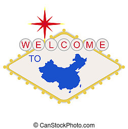 Welcome to China sign