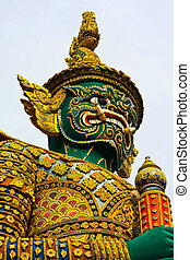 Green orge statue
