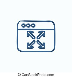 Full screen sketch icon - Full screen vector sketch icon...