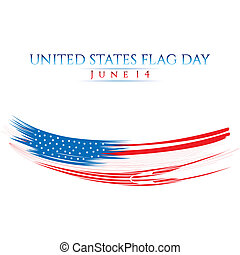 Flag Day - An abstract illustration with United States flag...