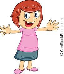 Cute Girl cartoon