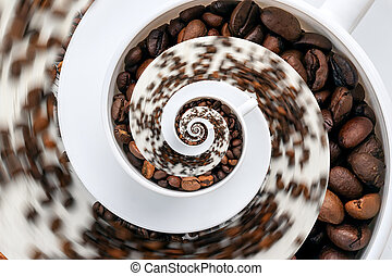 Abstract Caffeine Addiction Droste Effect - Abstract...