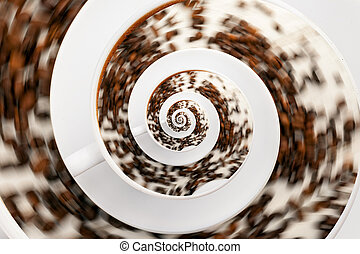 Abstract Caffeine Addiction Droste Effect. - Abstract...
