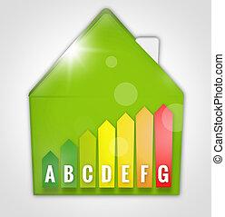 Energy Efficient House Scale Silhouette 3d illustration