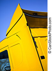 Car body of a truck - Close up of car body of a yellow truck