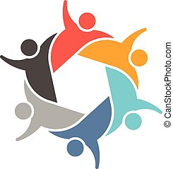 People Teamwork group logo