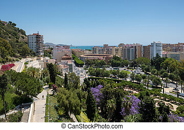 View from the Alcazaba Fort and Palace in Malaga