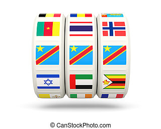 Slots with flag of democratic republic of the congo isolated...