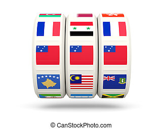 slot, con, bandiera, di, Samoa,