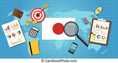 japan economy economic condition country with graph chart...