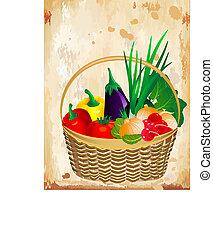 still life of vegetables