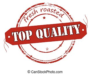 Fresh roasted top quality - Rubber stamp with text fresh...