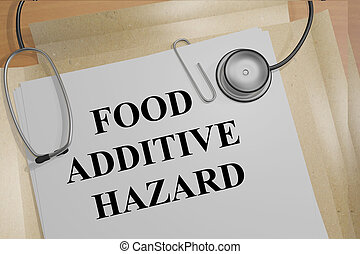 Food Additive Hazard medical research concept - 3D...