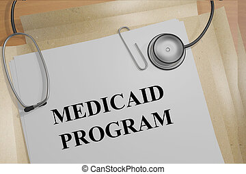 Medicaid Program medical concept - 3D illustration of...