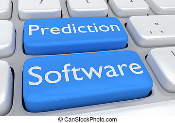 Prediction Software concept - 3D illustration of computer...